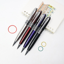 High Quality Metal Luxury Ballpoint Pen 0.7mm Blue/Black Ink Refill For Business Writing Office School Supplies Send 1