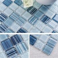 Lake Green Kitchen glass mosaic wall tile,Bathroom art design wall tile,fireplace wall home floor improvement decor tiles,LSC102