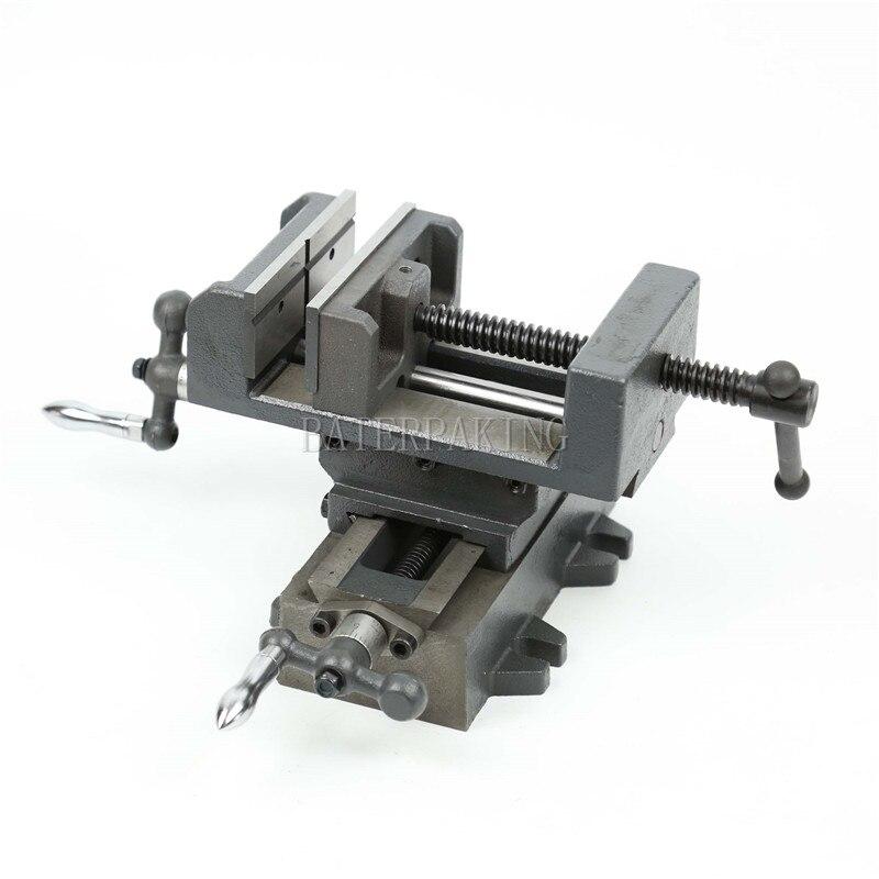 4 Inch Mini Plate pliers,cross sliding bench clamps,metal table pliers,Sliding range 110x130mm цена