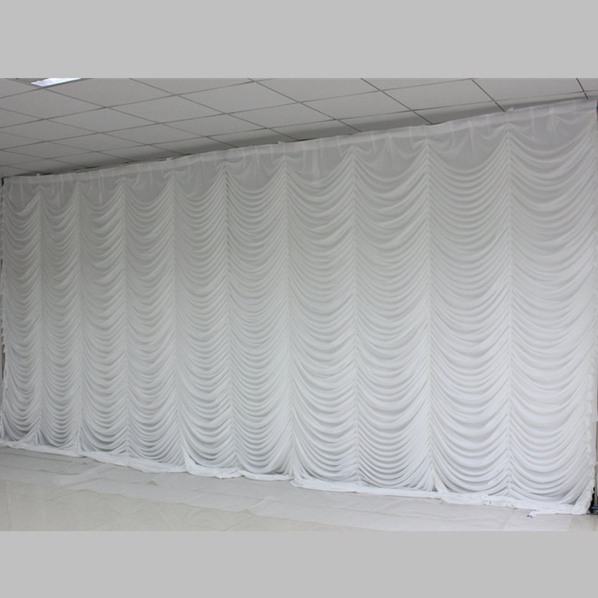 Ice Silk Elegant White Ripple Wedding Backdrop Party Event Curtain Drape Wedding Supplies Curtain for wedding Decorations