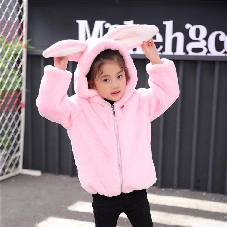 6677 enfants 2018 vêtements d'hiver garçon et fille fausse fourrure manteau épaissi rembourré manteaux belle fille chandail en laine enfants veste