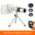 Clips Universal 18x Zoom Lentes Lentes Teleobjetivo Telescopio Con Trípode Peces gran angular de lente macro para iphone 6 7 teléfono celular