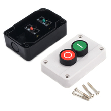 цена на Durable ABS Push Button Control Station Box Switch Accessories Remote Start Stop Motor Solenoid IP55 Button Case Box
