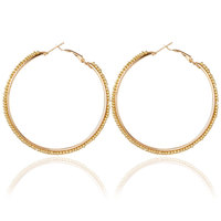Free Shipping Plastic Beads Bohemian Aliexpress Pulsera 6 Colors Available Large Gold Hoop Earrings