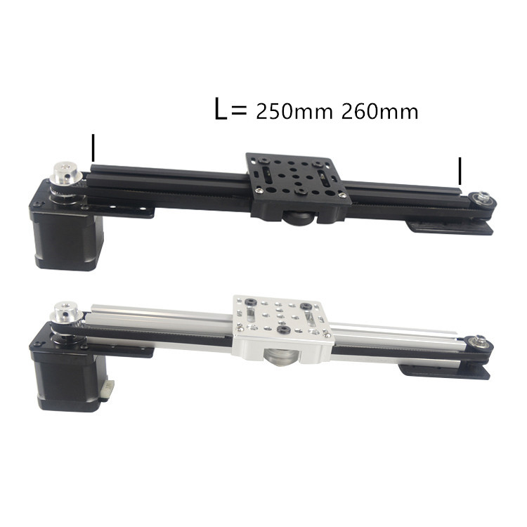 3d Printer 2020 V-slot Z Axis CNC Sliding Table 250mm 260mm Synchronous Belt Slide Linear Actuator Bundle Kit Set