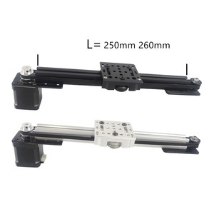 Image 1 - 3d printer 2020 v slot Z axis CNC sliding table 250mm 260mm synchronous belt slide linear actuator bundle kit set
