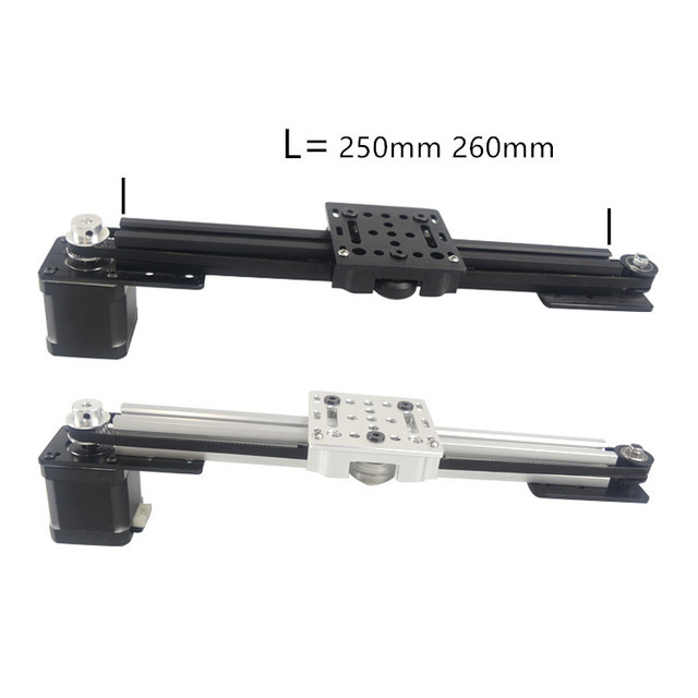 3d printer 2020 v slot Z axis CNC sliding table 250mm 260mm synchronous belt slide linear actuator bundle kit set