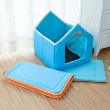 Foldable Bed With Mat. Soft Winter Dog House