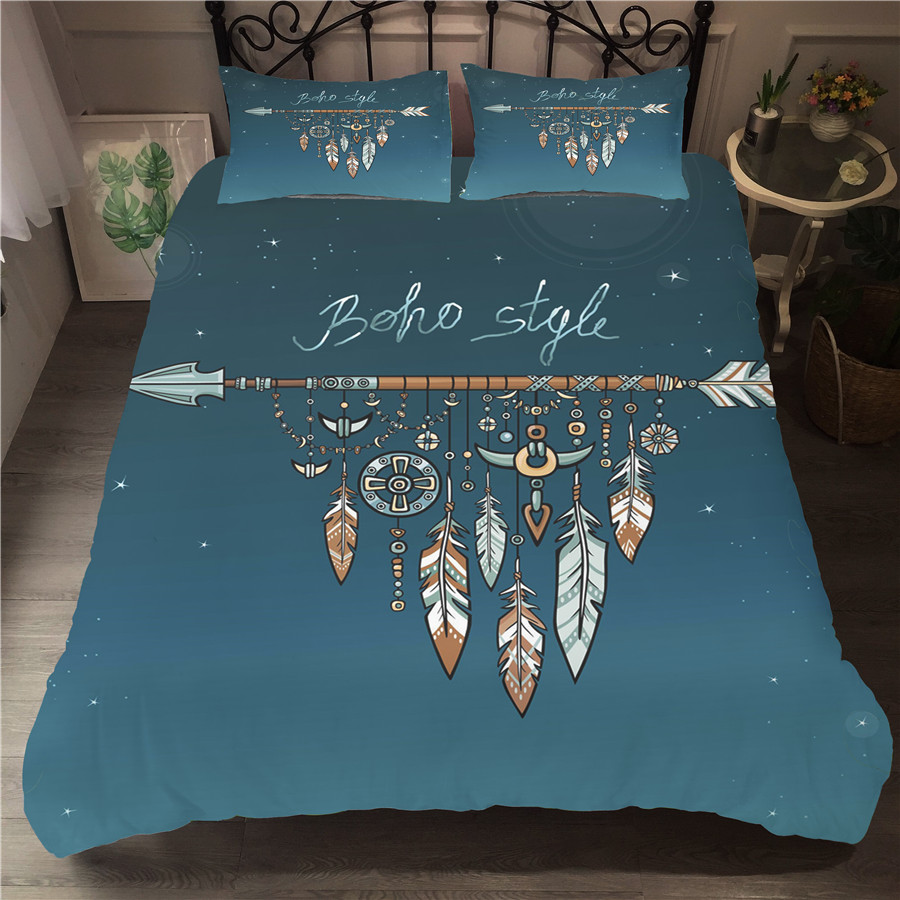 Bedding Set 3D Printed Duvet Cover Bed Set Dreamcatcher Bohemia Home Textiles For Adults Bedclothes With Pillowcase BMW15
