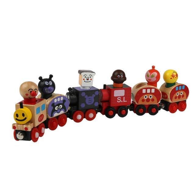 2016 New Magnetic Wooden cartoon animal train puzzle Christmas gifts for children Aug16