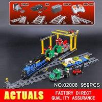 Lepin 02008 959Pcs City Series The Cargo Train Set 60052 Model RC Building Blocks Bricks Toys