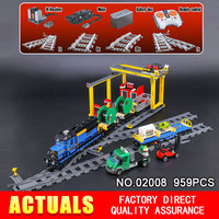 Lepin 02008 959Pcs City Series The Cargo Train Set 60052 Model RC Building Blocks Bricks Toys