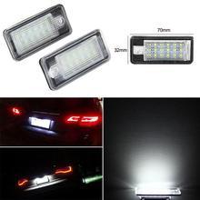 1 coppia Car LED Licenza Numero di Targa Della Lampada Della Luce di Automobili NO Canbus Errore di Accessori di Illuminazione Per Audi A3 A4 B6 b7 A6 A8 Q7 A5