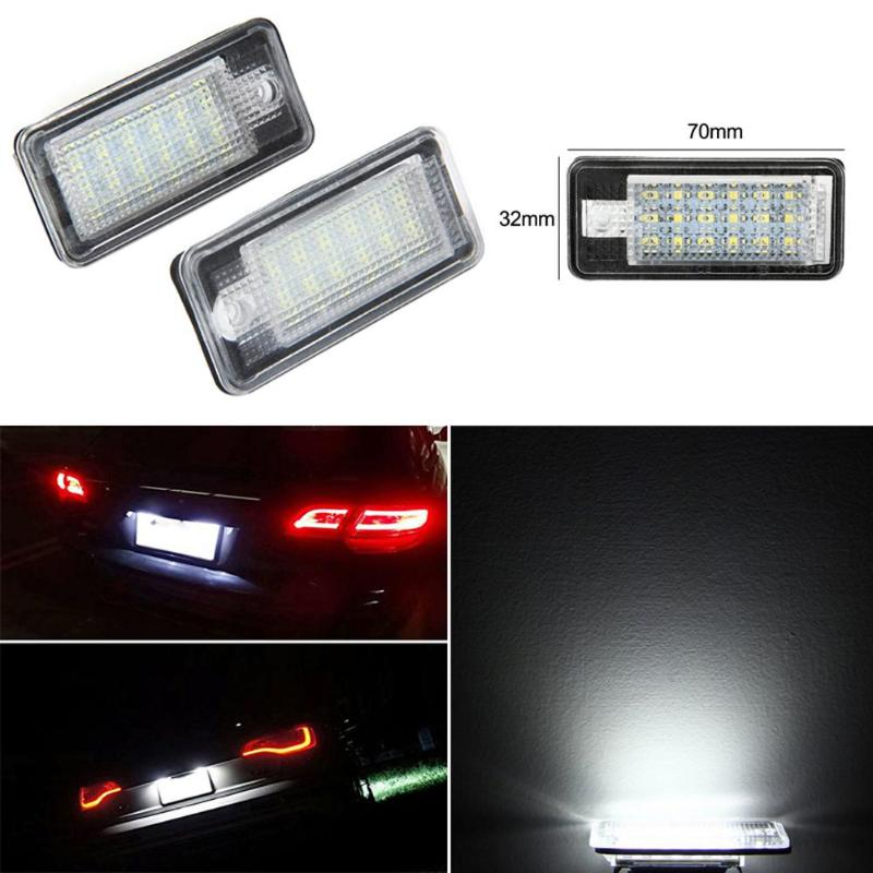 Vodool 1 Pair Car LED License Number Plate Light Lamp Automobiles NO Canbus Error Lighting For Audi A3 A4 B6 B7 A6 A8 Q7 A5 2 pairs canbus no error auto led license plate lamp car number lights for chevrolet canbus cruze all cars 09