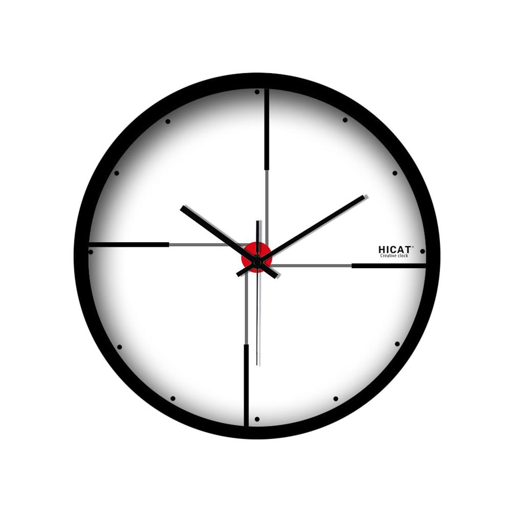 White Wall ClockCreative Large Mute Wall Clock Modern Living Room Clock Without Batter Household Wall Hanging Clock WZH614
