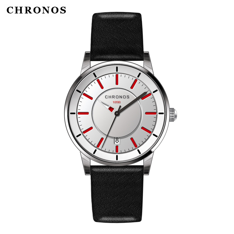 Men Sports Luxury Clock Brand CHRONOS Fashion Watches Men's Quartz Leather Strap Wrist Watch Gift Hot Sale relogio masculino hot sale luminous men watch luxury brand watches quartz clock fashion leather belts watch cheap sports wristwatch relogio male