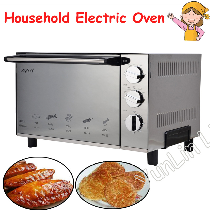 Household Electric Baker Heating Oven Cake Making Machine Electric Oven Bread Baker LO-2302JD 220v aux 9l multifunctional electric oven household bread cake pizza baker machine automatic barbecue electric oven
