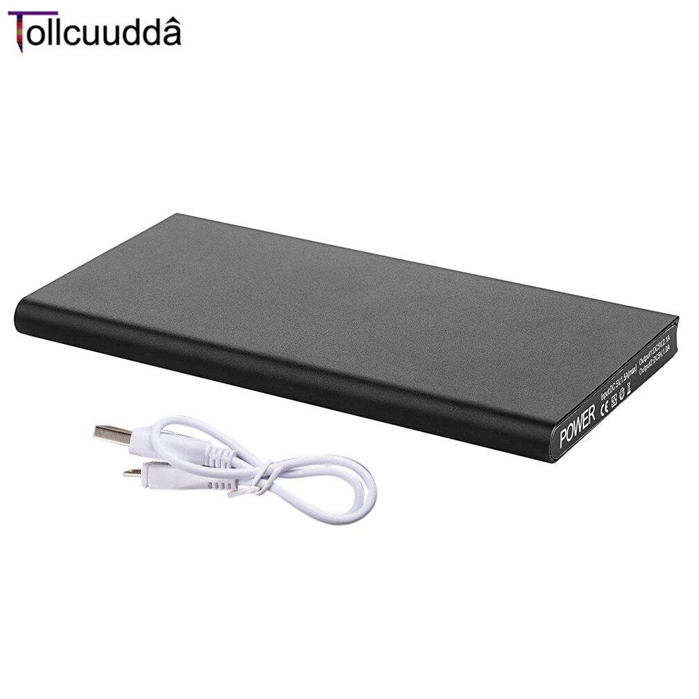 imágenes para Tollcuudda 10000 mAh Powerbank Portátil de Metal Teléfono Móvil Paquete Externo de La Batería Cargador Doble USB LLEVÓ la Iluminación