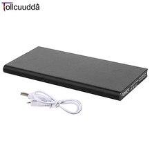 Carregador do Telefone Conduziu a Iluminação MAH de Metal Tollcuudda 10000 Portátil Powerbank Bateria Externa Móvel Duplo USB