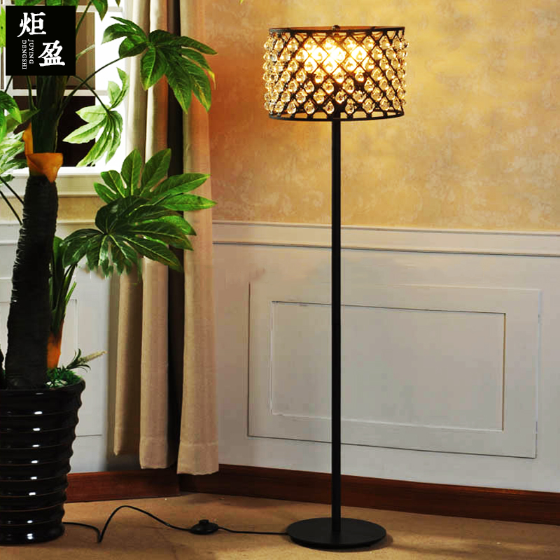 American Village Restaurant Bar Hotel Villa living room counter bar iron crystal ball floor lamp