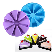 8 Cells Non Stick Triangle Shape Silicone Cake Mold Baking Pastry Molds Chocolate Jelly Mousse Bread