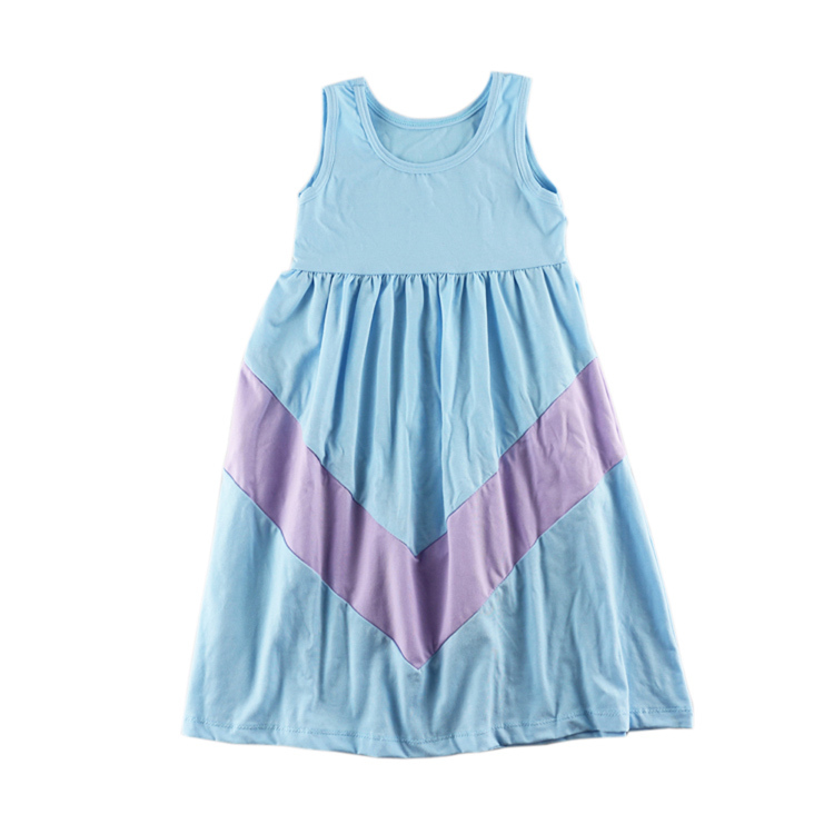 Girls Clothes Wennikids Summer Style Aqua Color Chevron Girl Maxi Dress Cotton Mommy And Me Dresses Mother Daughter Clothes