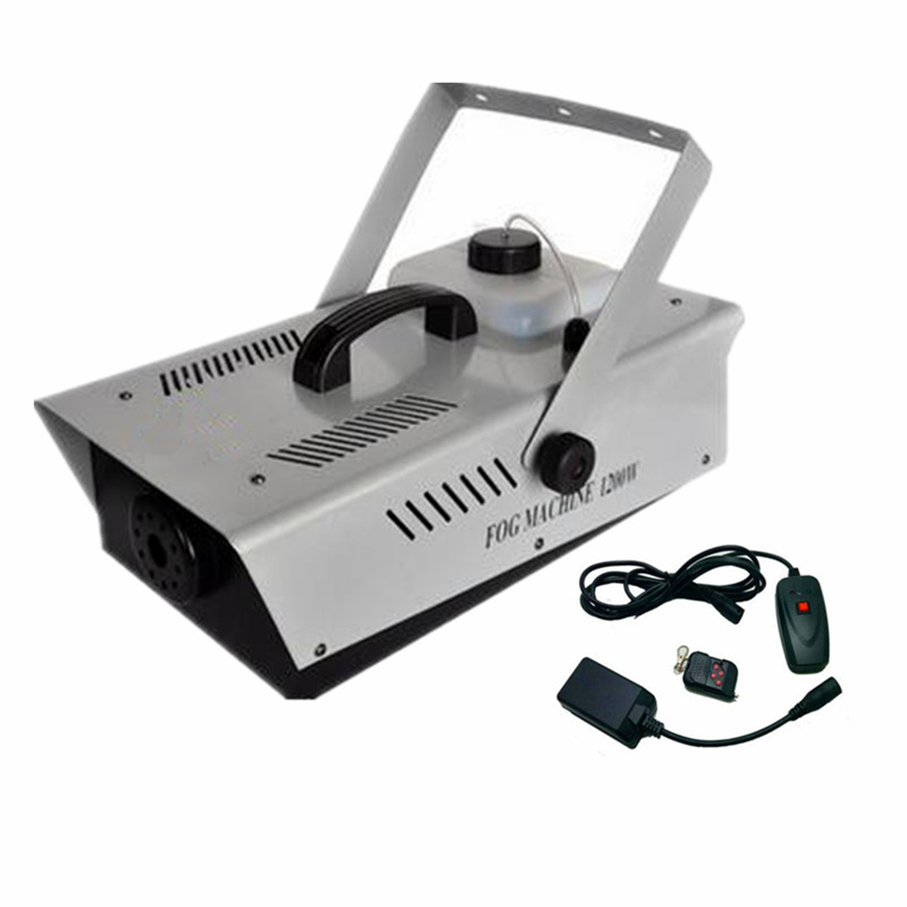 1200W Fog Machine Wire+Remote Control Smoke Machine DJ /Bar /Home Party /Show /Stage LED Fogger Ejector Equipment Smoke Thrower
