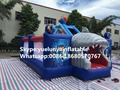 2016 new Factory direct Inflatable slide, inflatable castle, Inflatable jumping bed Shark Castle KYB-100