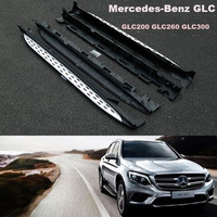 Auo автомобиля Подножки Подножка Бар Педали Для Mercedes Benz AMG GLC X253 GLC200 GLC300 2016.2017 Высокое Качество Нового Nerf Бары