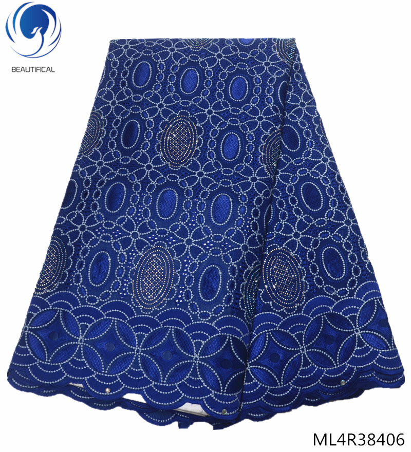 BEAUTIFICAL african blue swiss lace fabric womens panties cotton lace african lace fabric for wedding with rhinestones ML4R384BEAUTIFICAL african blue swiss lace fabric womens panties cotton lace african lace fabric for wedding with rhinestones ML4R384