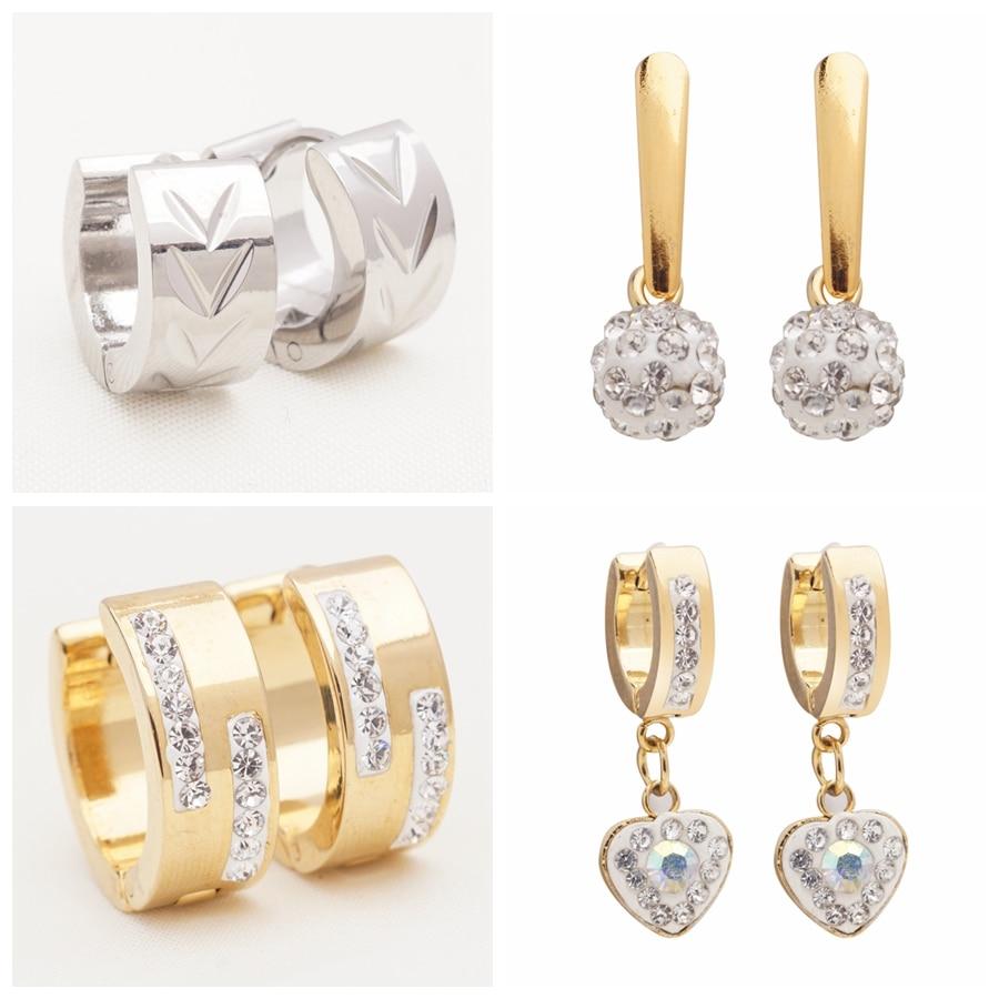 Yunkingdom 32 paires de Style différent mode géométrique en acier inoxydable cercle boucles d'oreilles pour femmes et hommes bijoux en gros