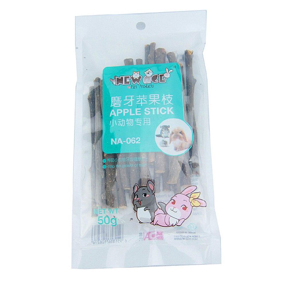 햄스터 애플 스낵 스틱 애완 동물 학자 지점 친칠라 토끼 앵무새 작은 동물 치아 청소 도구 치약 씹는 장난감