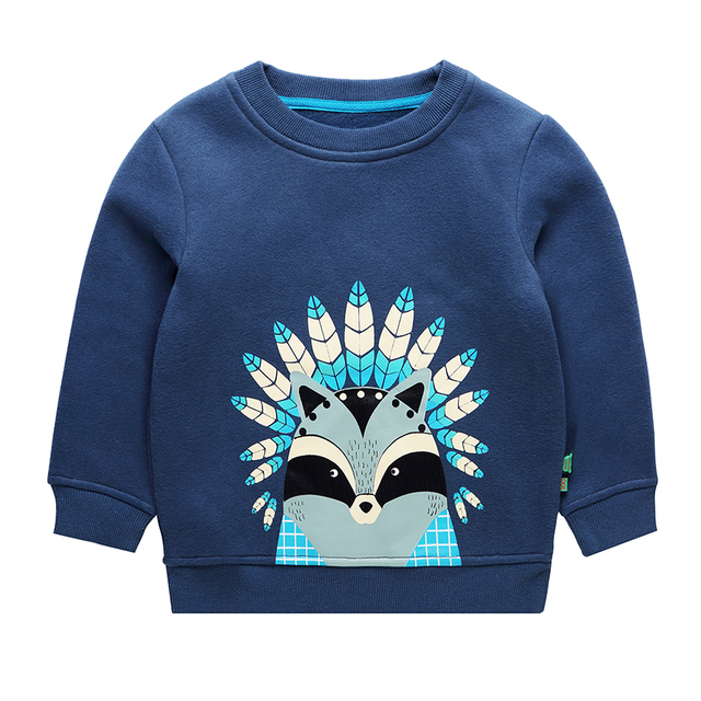 Kids Sweatshirts Spring Autumn Boys Fleece Tops Cartoon Pattern Girls Hoodies Outerwear Baby Costume Children Clothing