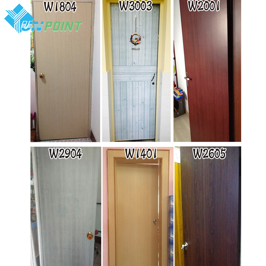 Bedroom Wood Grain Wall Stickers self adhesive PVC Wallpaper Refurbished Wardrobe Door Desktop Furniture Waterproof Stickers