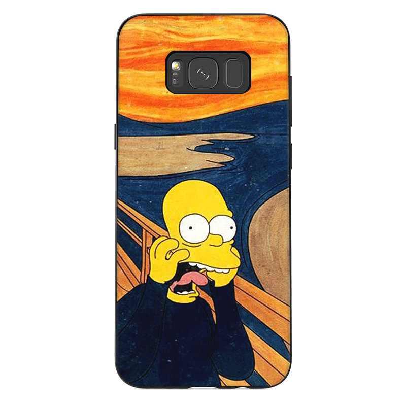 TPU Mobile Phone Case For Samsung A10 A20 A30 A40 A50 A60 A70 A7 A8 A9 A6 A5 A3 J6 Cover Funny Van Gogh Panda Mickey Cat Shell