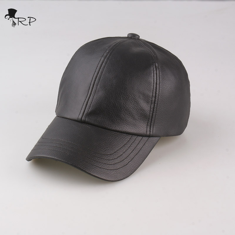 faux leather baseball cap wholesale black font fashion with fur pom