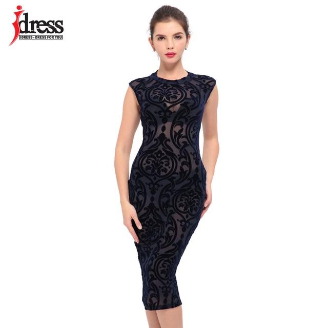 Idress ropa barata China ropa mujer moda 2017 Nuevo elegante noche partido  bodycon vestido de terciopelo b2c23d4ae726