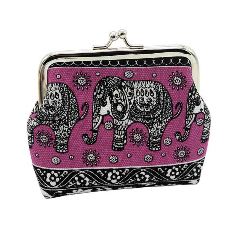 NEUE brieftasche leder brieftaschen männlichen geldbörse Mode Frauen Leinwand Dame Brieftasche Elefanten Floral Geldbörse Kupplung Bag drop verschiffen A0605 #30