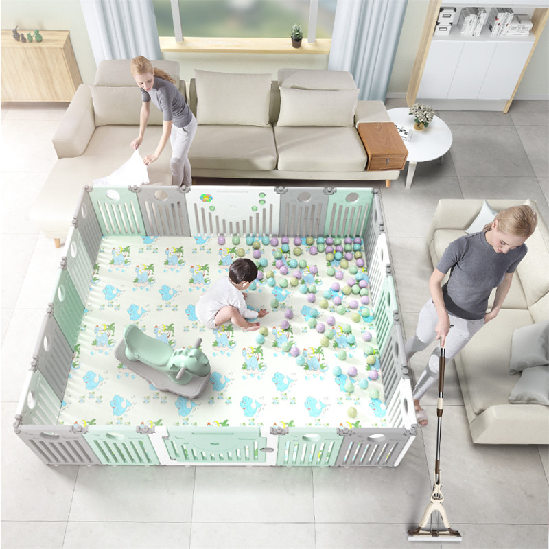 Free Installation Foldable Playpen Indoor Home Amusement Park Baby Toddler Safety Fence with Crawling Mat Childrens Play FenceFree Installation Foldable Playpen Indoor Home Amusement Park Baby Toddler Safety Fence with Crawling Mat Childrens Play Fence