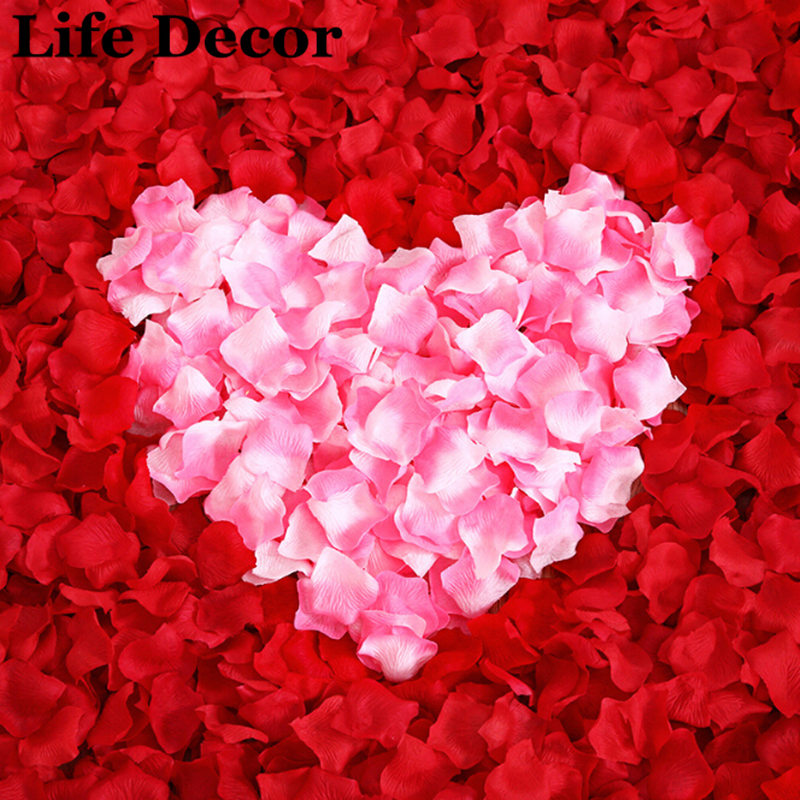 1000pc Silk Artificial Decorative Flower Rose Petals Wedding Party