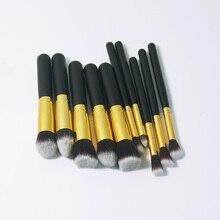 10 PCS Professional Cosmetic Makeup Tool Brush Brushes Set For Powder Eyeshadow Foundation Make up Set maquiagem