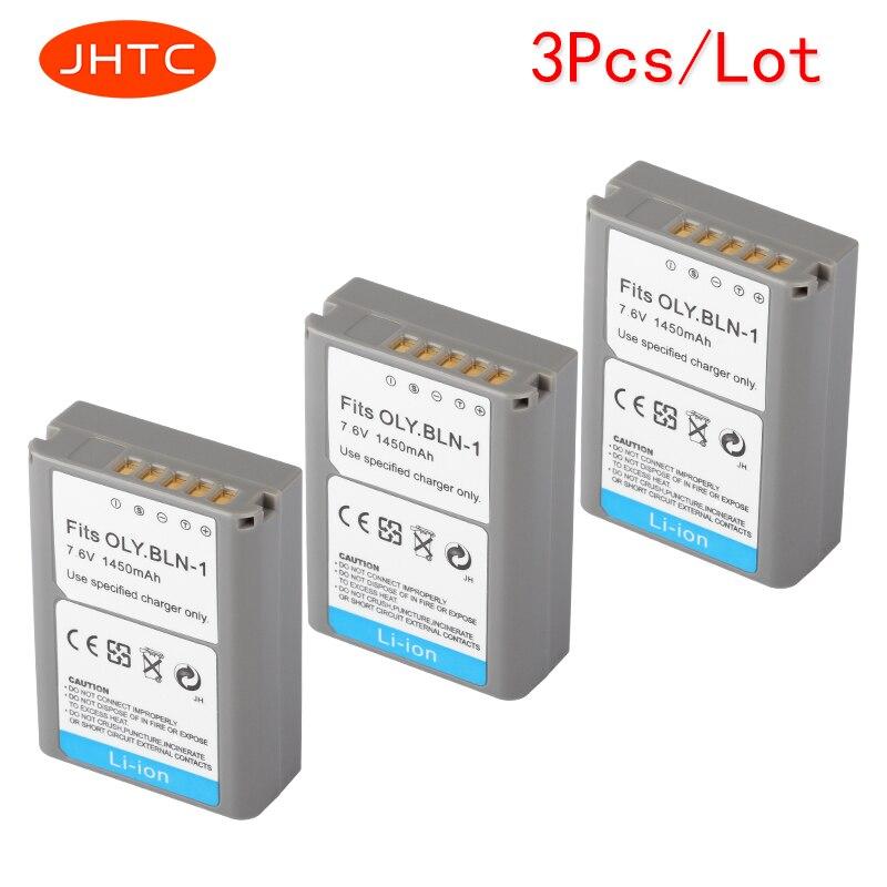 JHTC 3 pcs/lot 1450 mAh BLN-1 PS-BLN1 Appareil Photo Numérique Batterie Pour OLYMPUS PS-BLN1 BLN-1 Batterie Rechargeable pour E-M5 EM5 OMD OM-D
