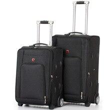 Letrend классический прокатки камера spinner мода высокого класса Колеса Чемодан Оксфорд тележка мужчины несут на женщин пароль дорожная сумка