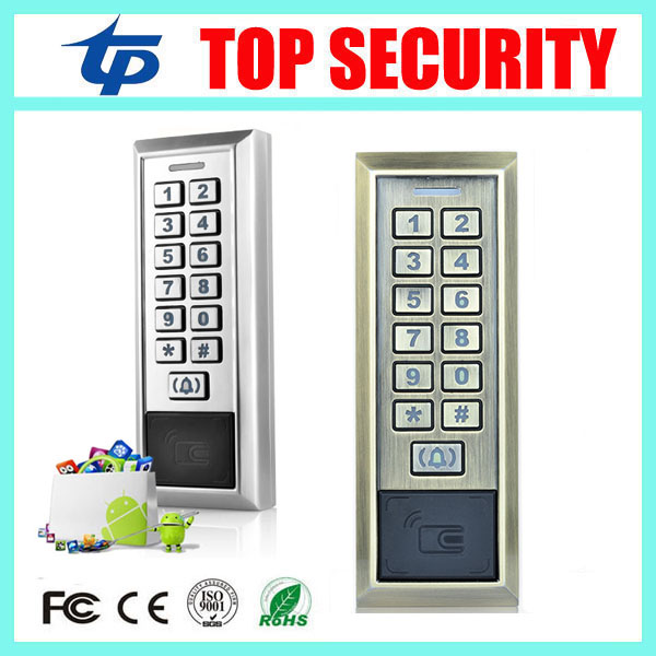 Good quality surface access control systems 125KHZ RFID EM card standalone single door access controller 8000 user card reader good quality metal case face waterproof rfid card access controller with keypad 2000 users door access control reader