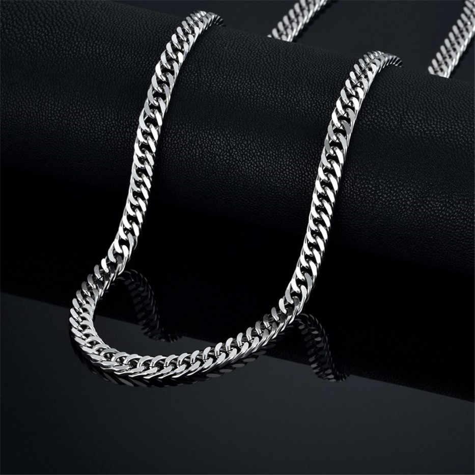 Hip Hop 6.5mm ze stali nierdzewnej czarny/srebrny/złoty łańcuch kubański N7M7 mężczyzn Curb Link naszyjnik 20- 28 cal łańcuchy XL492U naszyjnik