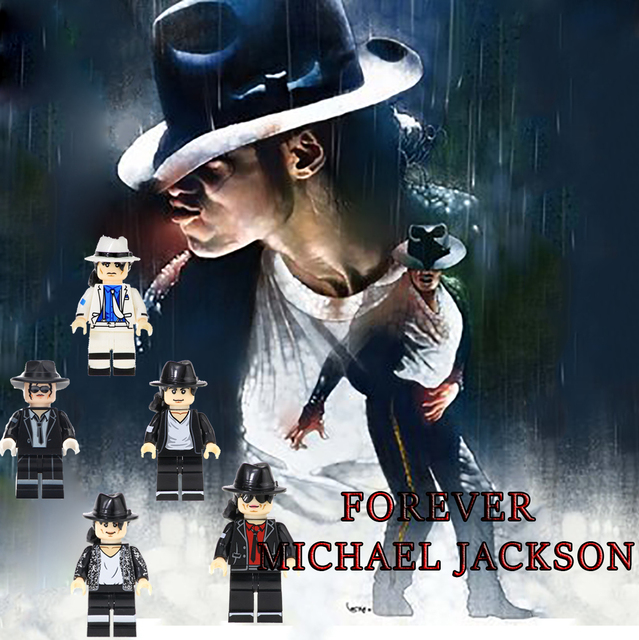 LEGOing Movie Figures Celebrity Michael jackson Elvis Presley Elton John Charlie Chaplin Stripper Kids Toys LEGOed Blocks Model