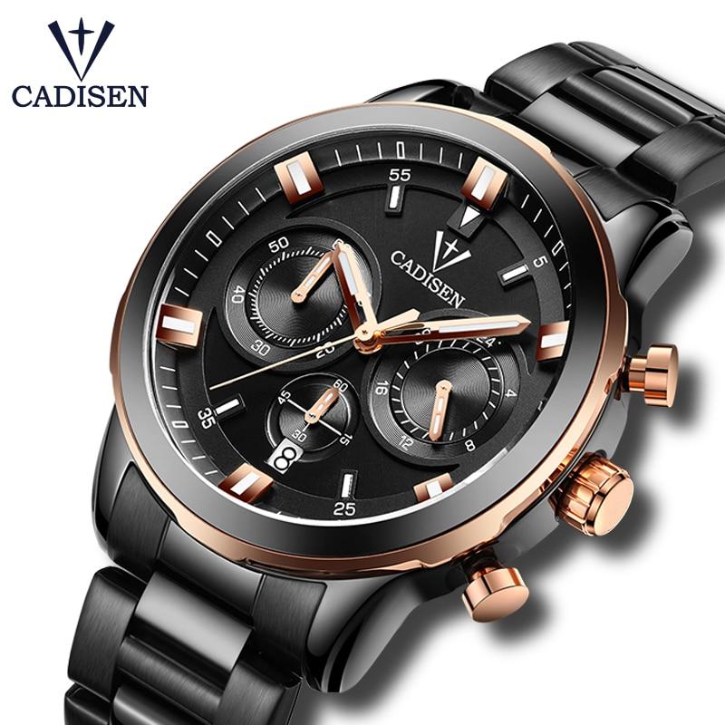 2017 New CADISEN Quartz Watches Men Luxury Brand army Waterproof Watch Six-pin Sport Military Wristwatches relogio masculino все цены