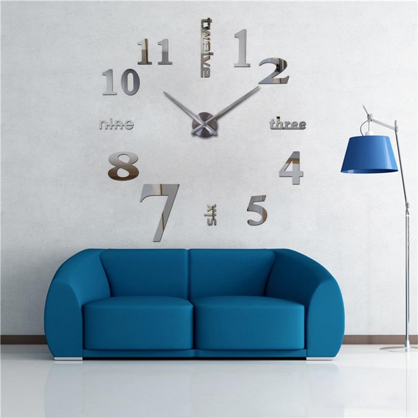 2018 супер голям diy стенен часовник - Декор за дома - Снимка 3