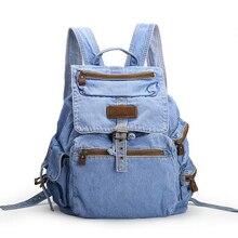 Лидер продаж Mochila Feminina женские Рюкзак джинсовый рюкзак для девочек-подростков винтажные дорожная сумка сумки на плечо Mochila Feminina