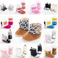 New Winter Totem Printing Baby Boots Fashion Kids Toddler Shoes Winter Baby Snow Boots Brand Street Comfort First Walkers 123